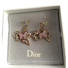 Dior-Boucles d'oreilles-Doré