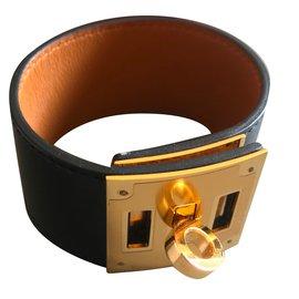 Hermès-Kelly Dog Bracelet-Black