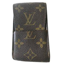 Louis Vuitton-Étui à cigatettes-Marron ... ba736a42d9e