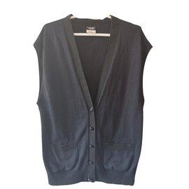 Chanel-Pulls, Gilets-Noir,Bleu
