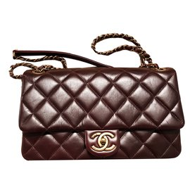 Chanel-Metier D'art Special edition Flap Bag-Dark red