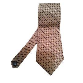 Salvatore Ferragamo-Cravates-Beige