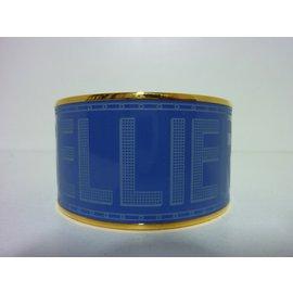 Hermès-Bracelet Manchette-Bleu,Doré