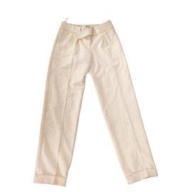 Chanel-Pantalons-Écru