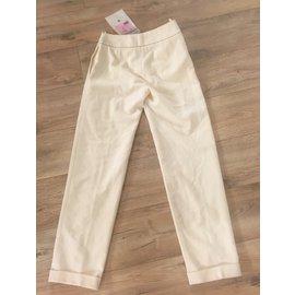 Chanel-Pants, leggings-Cream