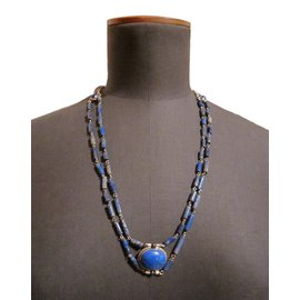 Autre Marque-Colliers-Argenté,Bleu,Bleu Marine