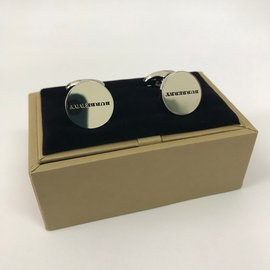 Burberry-Manschettenknöpfe-Silber