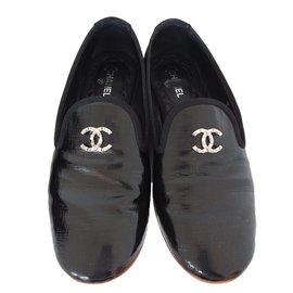 Chanel-Slippers-Noir