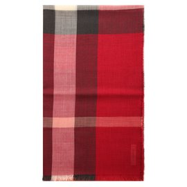 Burberry-Echarpes homme-Rouge