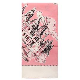 Burberry-LONDON LANDSCAPE SILK SQUAR-Pink