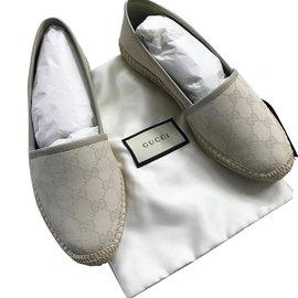 Gucci-espadrilles beige-Beige