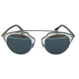 Dior-Lunettes der soleil-Argenté,Bleu,Gris ... 919ca27ee424