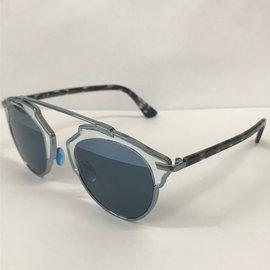 ... Dior-Lunettes der soleil-Argenté,Bleu,Gris 66ec0ecf47b5