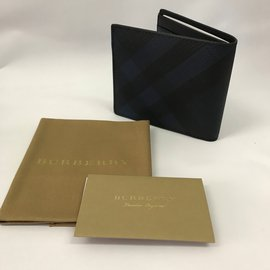 Burberry-Portefeuille-Noir,Bleu