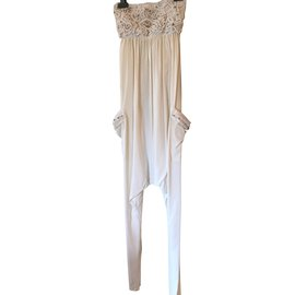 Autre Marque-Combinaison pantalon Emamo-Blanc