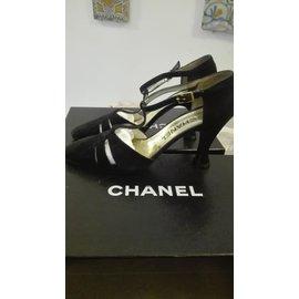 c6818629efe Chanel-Sandals-Black Chanel-Sandals-Black