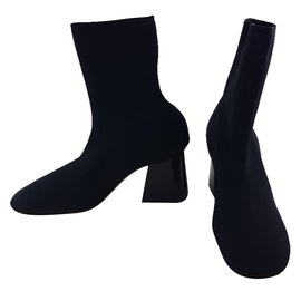 Céline-SOFT BALLERINA SOCK ANKLE BOOT-Black