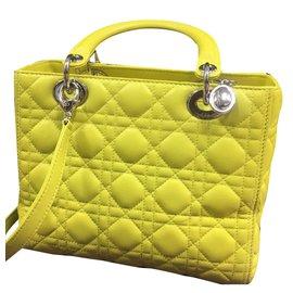 1f6e898a234b Christian Dior-Lady Dior Medium-Jaune ...