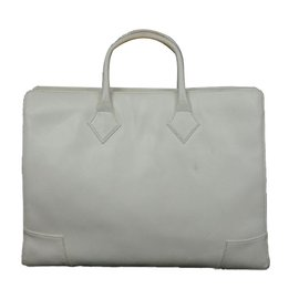 Vivienne Westwood-Patent Leather Briefcase-White