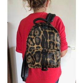 Louis Vuitton-Sacs à dos-Imprimé léopard