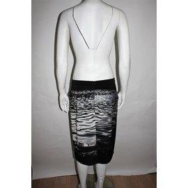 Agnès b.-Skirt-Black,White