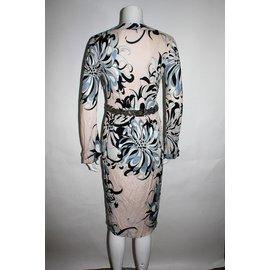 Emilio Pucci-Robe-Noir,Rose,Bleu