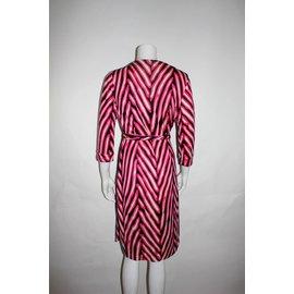 Diane Von Furstenberg-Dress-Pink,White,Navy blue