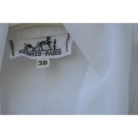 Hermès-Blouse lavalliere-Blanc