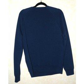 Louis Vuitton-Pull-Bleu,Imprimé Zèbre