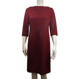 Diane Von Furstenberg-Dress-Dark red