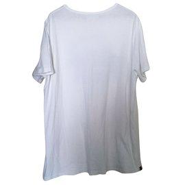 Schott-Tee shirt-Blanc
