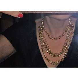 Chanel-Golden chain belt/necklace-Golden