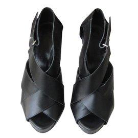 Hermès-Sandales-Noir