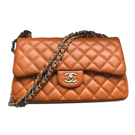 Chanel-Chanel Jumbo Timeless Classic Double Flap Bag - Caviar leather - Rich Caramel-Caramel