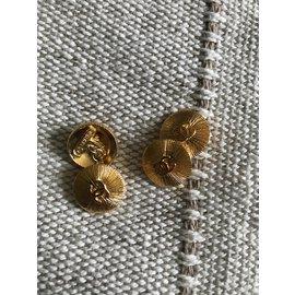 Chanel-Bouton de manchette-Doré