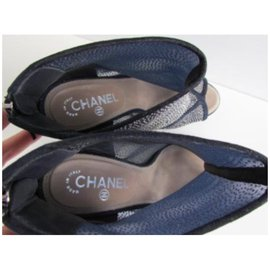 Chanel-Ankle boots-Blue