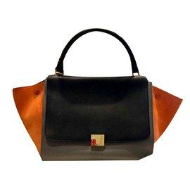 Céline-Trapeze-Noir,Orange,Gris