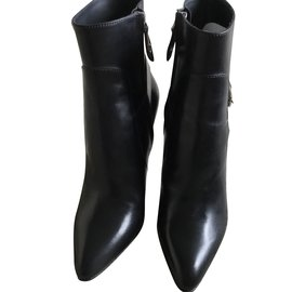 Louis Vuitton-Bottines-Noir,Argenté