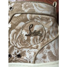 Christian Louboutin-sneakers-White,Beige