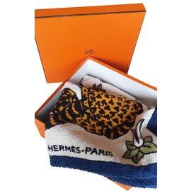 Hermès-Drap de bain / Tapis de bain  LES PANTHERES-Multicolore