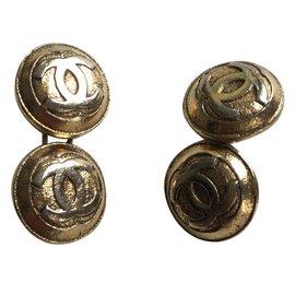 Chanel-Boutons de manchette-Doré