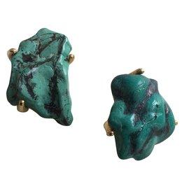 Yves Saint Laurent-Earrings-Green