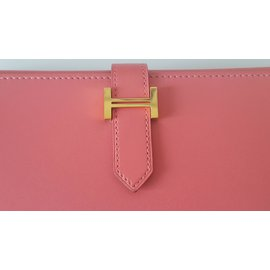 Hermès-Bearn wallet-Pink