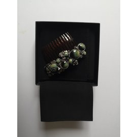 Chanel-Hair accessories-Brown,Silvery,Green
