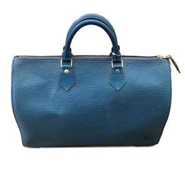 Louis Vuitton-Speedy 35 Vintage-Bleu