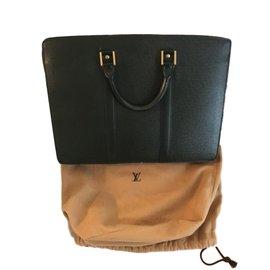 Louis Vuitton-Porte documents-Noir,Vert