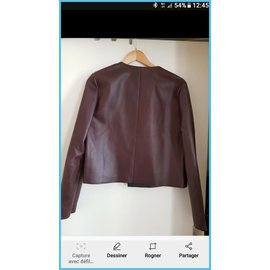 Céline-Jackets-Dark red