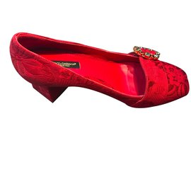 Dolce & Gabbana-Escarpins-Rouge