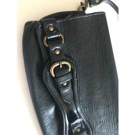 Abaco-Pochette en cuir grainé noir-Noir