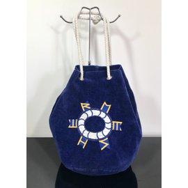 Hermès-Sac de plage-Bleu
